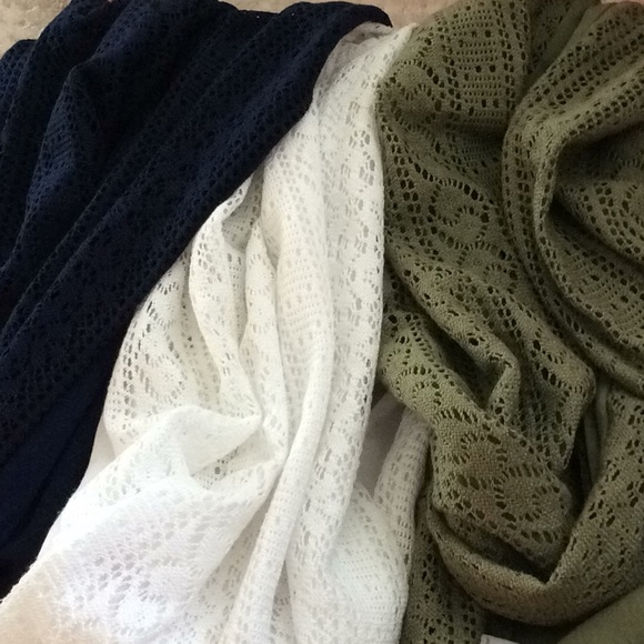 Accessories - 💗4for$20 Set of 3 Infinity Scarfs new
